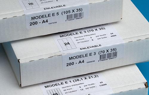 impression étiquettes a4